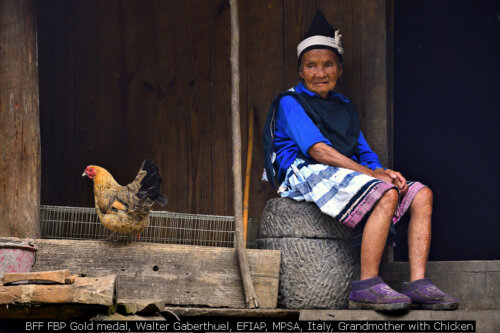 BFF FBP Gold medal, Walter Gaberthuel, EFIAP, MPSA, Italy, Grandmother with Chicken